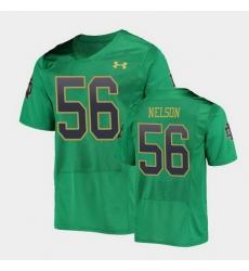 Men Notre Dame Fighting Irish Quenton Nelson College Football Green Replica Jersey