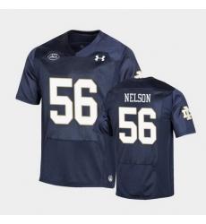 Men Notre Dame Fighting Irish Quenton Nelson Replica Navy College Football Playoff Jersey