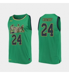Men Notre Dame Fighting Irish Robby Carmody Replica Kelly Green College Basketball 2019 20 Jersey