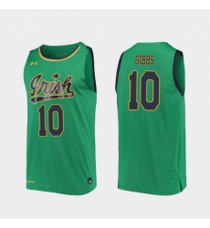 Men Notre Dame Fighting Irish T.J. Gibbs Replica Kelly Green College Basketball 2019 20 Jersey