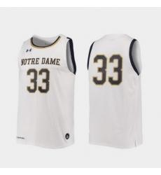 Men Notre Dame Fighting Irish White Replica College Basketball Under Armour Jersey