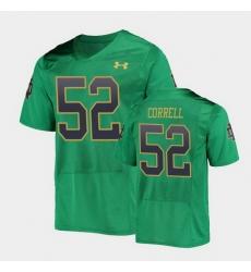 Men Notre Dame Fighting Irish Zeke Correll College Football Green Replica Jersey
