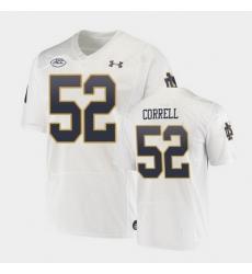 Men Notre Dame Fighting Irish Zeke Correll Replica White College Football Playoff Jersey
