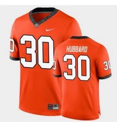 Men Oklahoma State Cowboys Chuba Hubbard College Football Orange Game Jersey