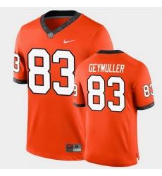 Men Oklahoma State Cowboys Gordie Geymuller College Football Orange Game Jersey