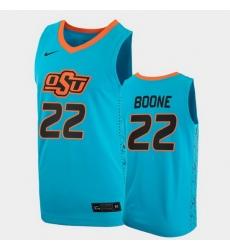 Men Oklahoma State Cowboys Kalib Boone College Basketball Blue Jersey