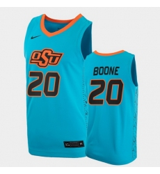 Men Oklahoma State Cowboys Keylan Boone College Basketball Blue Jersey