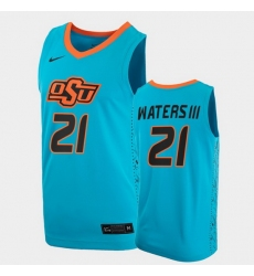 Men Oklahoma State Cowboys Lindy Waters Iii College Basketball Blue Jersey