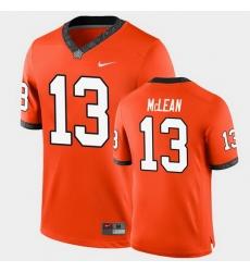Men Oklahoma State Cowboys Nolan Mclean College Football Orange Game Jersey