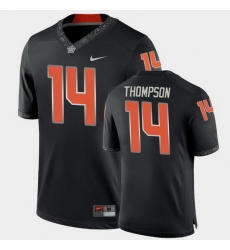 Men Oklahoma State Cowboys Peyton Thompson College Football Black Game Jersey