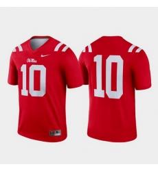 Men Ole Miss Rebels 10 Red Legend College Football Jersey