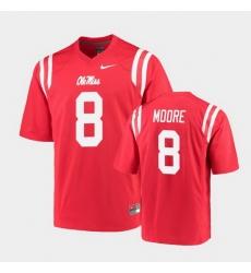 Men Ole Miss Rebels Elijah Moore College Football Red Game Jersey