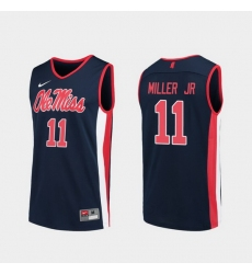 Men Ole Miss Rebels Franco Miller Jr. Navy Replica College Basketball Jersey
