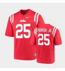 Men Ole Miss Rebels Henry Parrish Jr. College Football Red Game Jersey