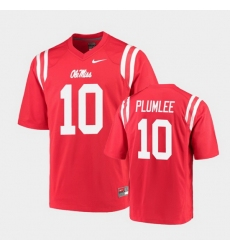 Men Ole Miss Rebels John Rhys Plumlee College Football Red Game Jersey