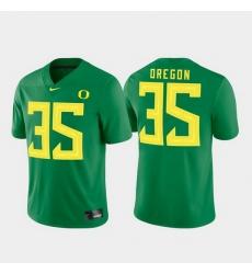 Men Oregon Ducks 35 Green Game Jersey