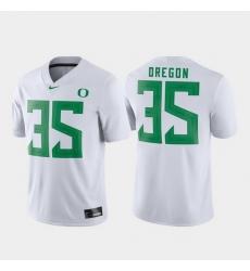 Men Oregon Ducks 35 White Game Football Jersey