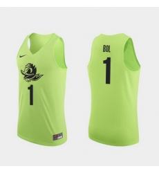 Men Oregon Ducks Bol Bol Apple Green Authentic College Basketball Jersey 0A