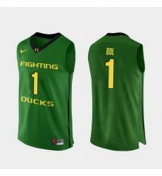 Men Oregon Ducks Bol Bol Apple Green Authentic College Basketball Jersey