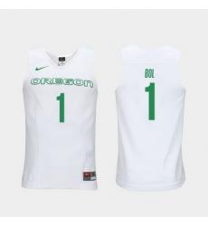 Men Oregon Ducks Bol Bol White Elite Authentic Performance College Basketball Jersey