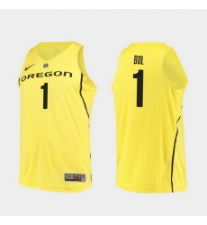 Men Oregon Ducks Bol Bol Yellow Authentic College Basketball Jersey