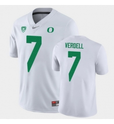Men Oregon Ducks Cj Verdell Game White College Football Jersey