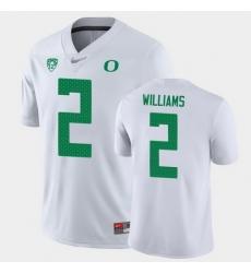 Men Oregon Ducks Devon Williams Game White College Football Jersey