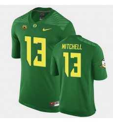 Men Oregon Ducks Dillon Mitchell Replica Green Game Football Jersey