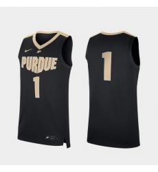 Men Purdue Boilermakers Black Replica College Basketball Jersey