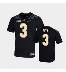 Men Purdue Boilermakers David Bell Game Football Black Jersey