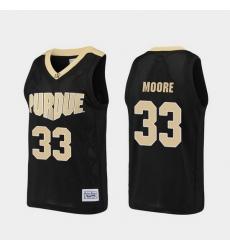 Men Purdue Boilermakers E'Twaun Moore Alumni Black Basketball Jersey