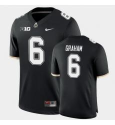 Men Purdue Boilermakers Jalen Graham College Football Game Black Jersey