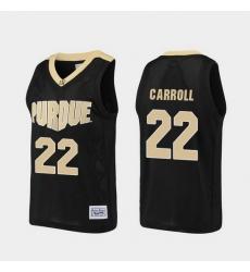 Men Purdue Boilermakers Joe Barry Carroll Alumni Black Basketball Jersey