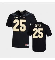 Men Purdue Boilermakers Tyler Coyle Game Football Black Jersey