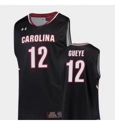 Men South Carolina Gamecocks Khadim Gueye Black Replica College Basketball Jersey