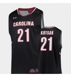 Men South Carolina Gamecocks Maik Kotsar Black Replica College Basketball Jersey