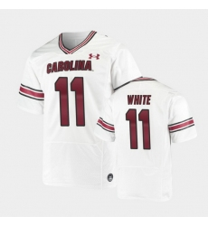 Men South Carolina Gamecocks Zaquandre White Replica White Premiere Football Jersey