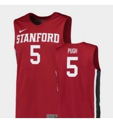 Men Stanford Cardinal Kodye Pugh Red Replica College Basketball Jersey
