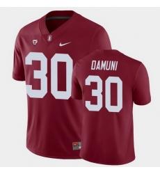 Men Stanford Cardinal Levani Damuni College Football Cardinal Game Jersey