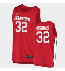 Men Stanford Cardinal Lukas Kisunas College Basketball Red 2020 21 Jersey