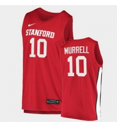 Men Stanford Cardinal Max Murrell College Basketball Red 2020 21 Jersey