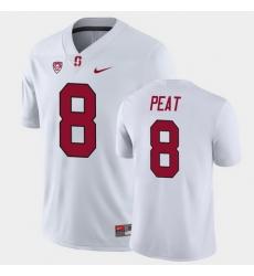 Men Stanford Cardinal Nathaniel Peat Game White College Football Jersey