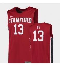 Men Stanford Cardinal Oscar Da Silva Red Replica College Basketball Jersey