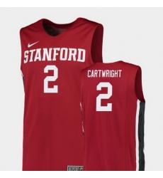 Men Stanford Cardinal Robert Cartwright Red Replica College Basketball Jersey