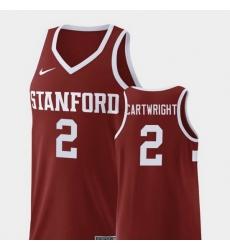 Men Stanford Cardinal Robert Cartwright Wine Replica College Basketball Jersey