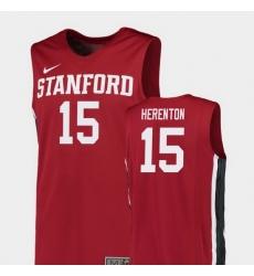 Men Stanford Cardinal Rodney Herenton Red Replica College Basketball Jersey