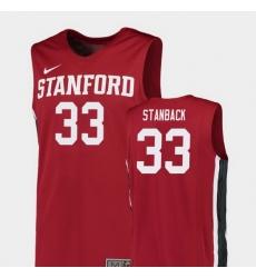 Men Stanford Cardinal Trevor Stanback Red Replica College Basketball Jersey