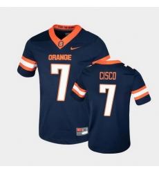 Men Syracuse Orange Andre Cisco College Football Game Navy Jersey