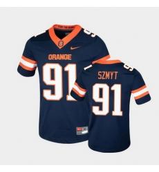 Men Syracuse Orange Andre Szmyt College Football Game Navy Jersey