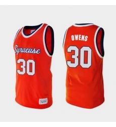 Men Syracuse Orange Billy Owens Alumni Orange College Baketball Jersey